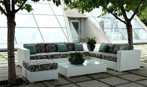 discount patio furniture patio furniture clearance costco a set of chair with seat pad have abstract pattern and blue cushion on top with rectangle table with vase