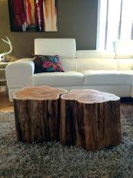 tree stump coffee table base trunk beautiful marvelous nightstand best ideas about dining