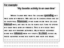 leisure time activities essay gender differences in aggression leisure time activities essay