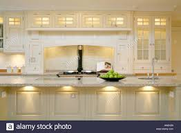 Modern Contemporary Kitchen Modern Contemporary Kitchen With Aga Cooker Stock Photo Royalty