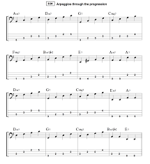 Walking Bass Lines Using Chord Tones Fly Me To The Moon