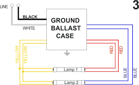 fluorescent light wiring diagram for ballast wiring diagram and how to wire a 2 lamp ballast at Wiring A Ballast Fluorescent Diagram