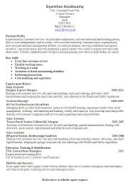 Profile Resume Examples For Customer Service Profile Examples For