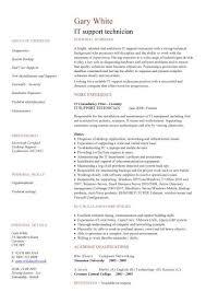 It Support Technician Cv Sample Job Description Cvs Curriculum