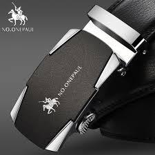 onepaul men tactical belts for men business alloy buckle ceinture homme fashion men s automatic buckle leather belt zdc15