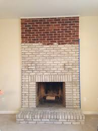 whitwashed brick fireplace what kind of paint