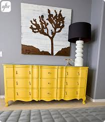 bright painted furniture. from design sponge this dresser started off as a standard issue brown wood french inspired piece thereu0027s certainly nothing wrong with bright painted furniture i