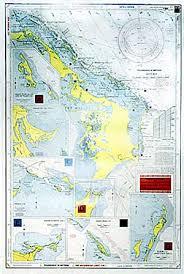 Waterproof Navigation Charts Grand Bahama The Abacos