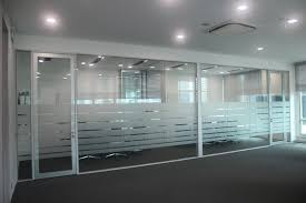 office glass partition design. Double Glazed Glass Cabins / Partition Fitted With Doors Drop Seals For Better Acoustic Office Design