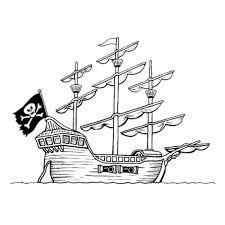 Disegno Di La Nave Pirata Da Colorare Per Bambini