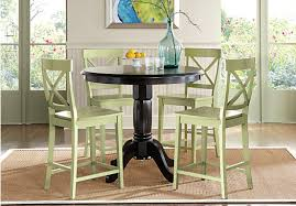 black counter height dining room sets. picture of brynwood black 5 pc counter height dining set from room sets furniture u