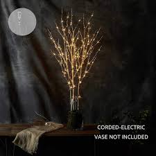 Holiday Branches With Lights Litbloom Lighted Twig Branches With Timer And Dimmer Tree Branch With Warm White Lights For Holiday And Party Decoration 32in 150 Led Waterproof Plug