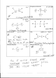 Lewis Structure Worksheets With Answers Foothill High School