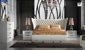 Miami Bedroom Furniture Miami Modern Bedroom Set In Carmen White Free Shipping Get