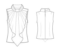 Saree Blouse Design Sketches Saree Blouse Drawing Coolmine Community School