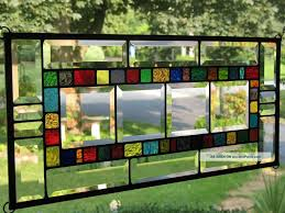 image of faux stained glass window technique 2018