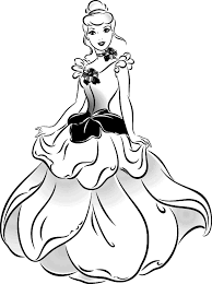 Beautiful Dress Cinderella Coloring Pages Coloringsuitecom