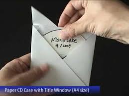 Cd Paper Case Easy Paper Cd Case With Title Window A4 Size Done In 6 Folds Youtube