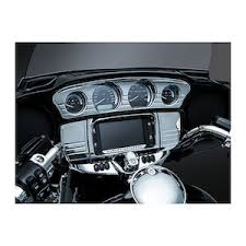 motorcycle gauges gauge kits revzilla kuryakyn tri line stereo trim deluxe for harley touring trike 2014 2019