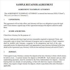 sample agreement letters retainer letter korest jovenesambientecas co