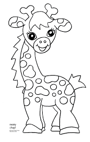 Baby Jungle Animal Coloring Pagespin Giraffes