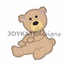 Teddy Bear Applique Designs Teddy Bear Blanket Stitch Applique Embroidery Design