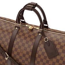 louis vuitton overnight bag. keepall bandoulière 55 damier ebene in women\u0027s travel collections by louis vuitton overnight bag o