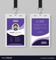 Company Id Card Template Modern Corporate Id Card Design Template