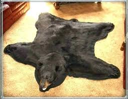 bear skin rug for real