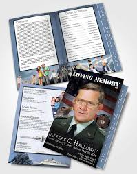Funeral Programs Samples Best 48 Page Graduated Step Fold Funeral Program Template Brochure Going