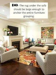 via the right size rug room sized area rugs how to style a sectional sofa rug guide room sized area