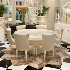 high end dining room furniture. high end modern ivory lacquered round dining table set room furniture