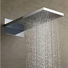 International Standard 304 Stainless Steel Rainfall Rectangle Shower Head  HB53B