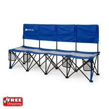 camping convertible bench outdoor folding 4 person chair tournaments picnic seat