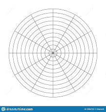 Polar Grid Of 10 Concentric Circles And 30 Degrees Steps