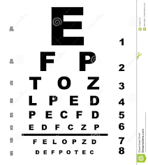 Isolated Eye Test Chart Stock Vector Illustration Of Letter