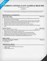 Resume Samples Fashion Industry