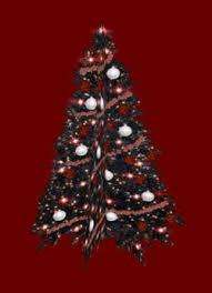Bliss Christmas Box - Black Red Christmas Tree