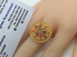 22k 91 6 gold dubai india flower ring size adjule goldjewellerydubai
