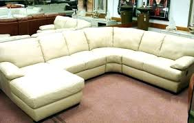 cream leather sectional sofa couch ultra modern and black t94