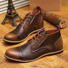 us 6 10 fashion real leather lace up cap toe mens oxford formal dress shoes