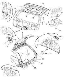 2006 dodge magnum decklid liftgate panel diagram 00i98516