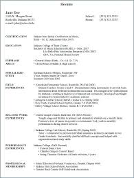 Music Resume For College