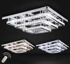 Xxl Led Deckenlampe Kristall Deckenleuchte Kronleuchter