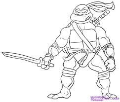 ninja turtles coloring pages leonardo. Plain Leonardo Ninja Turtle Leonardo Blu Coloring Pages  Crafts With Turtles Pages E