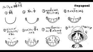 ルフィの描き方 おえかき講座 How To Draw Luffy
