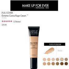 makeup forever extreme camouflage cream nwot makeup forever full cover extreme camouflage cream in 6