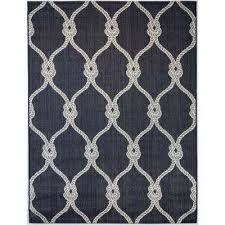 trellis rope navy 5 ft 3 in x 7 ft indoor outdoor
