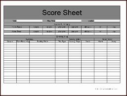 Free Football Stat Sheet Template Excel Football Score Sheet ...