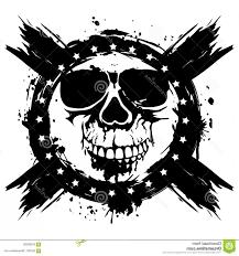 Stock Illustration Grunge Skull Vector Illustration Background